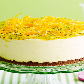 Australian - Citrus cheesecake with passionfruit topping