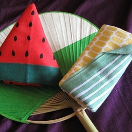 Kamawanu - atermelon and Corn Tenugui handkerchief