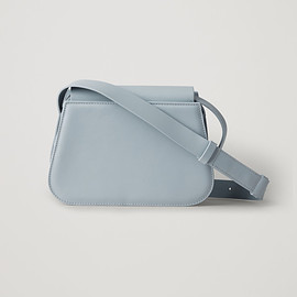 COS - small rounded leather shoulder bag  in turquoise