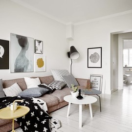 my scandinavian home - A VERY COOL BLACK AND WHITE SWEDISH HOME