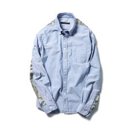 SOPHNET. - CAMOUFLAGE PANEL B.D SHIRT