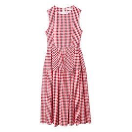 GINGER ALE - SLEEVELESS CHECK ONE-PIECE