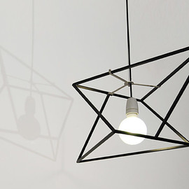 dESIGNoBJECT - divina proportione geometric lamp black