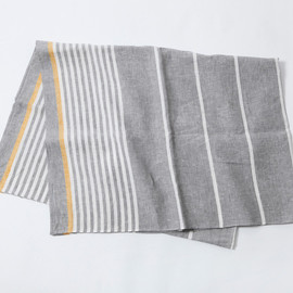 MARGARET HOWELL - STRIPE TABLE CLOTH GREY