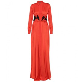BOTTEGA VENETA - SATIN-SILK BELTED LONG DRESS