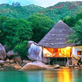 "Chauve Souris Hotel - Seychelles, 5 rooms Hotel, ""Pirate Room"""