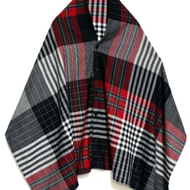 Engineered Garments - Button Shawl Multicolored Plaid