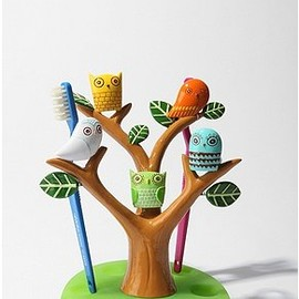 Owl Tree Toothbrush Holder