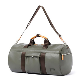 "HEAD PORTER - ""KRUGER"" BOSTON BAG OLIVE"