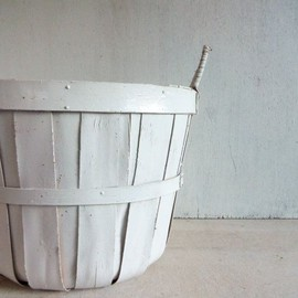 Vintage White Apple Basket by VintageSilverLining on Etsy