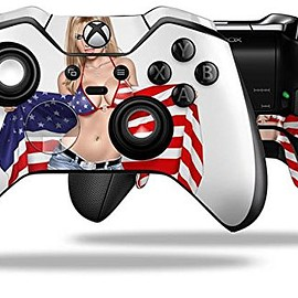 INDEPENDENT - Independent Woman Pin Up Girl - Decal Style Skin fits Microsoft XBOX One ELITE Wireless Controller