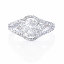 Firenze Jewels - Diamond 18k White Gold Engagement Ring Setting - ダイヤモンドの指輪