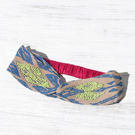 Embroidered Turban Headband