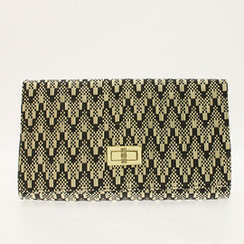 H&M - H&M straw clutch bag