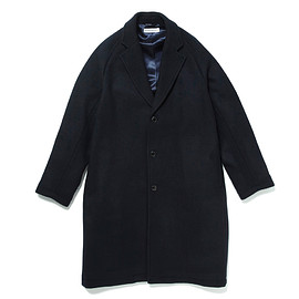 HEAD PORTER PLUS - LONG COAT NAVY