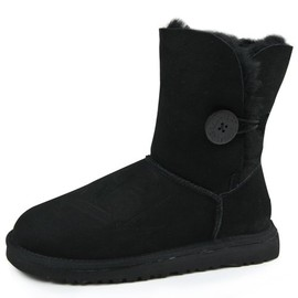 UGG - Bailey Button ムートンブーツ BLACK