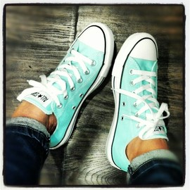 CONVERSE - Tiffany blue All Star