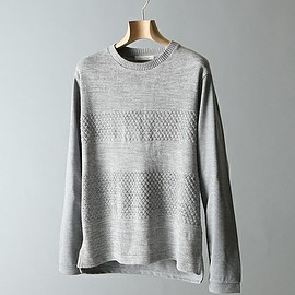 JOURNAL STANDARD - FrontTiered CrewNeck 切り替えニット