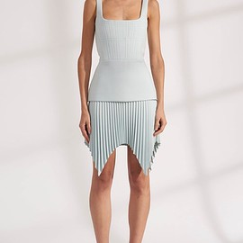 DION LEE - TRUSS PLEAT MINI DRESS