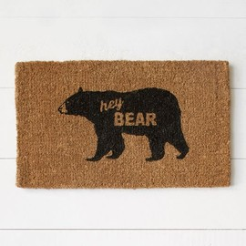 West Elm - Coir Doormat - Hey Bear