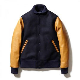 HEAD PORTER PLUS - VARSITY JACKET NAVY