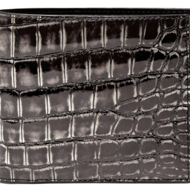 BOTTEGA VENETA - Crocodile Wallet Black