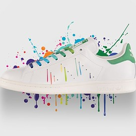 Adidas - adidas - STAN SMITH Running White Ftw  /  Running White Ftw  /  Green D70352
