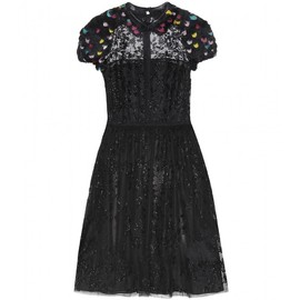 VALENTINO - Feather and bead-embellished dress