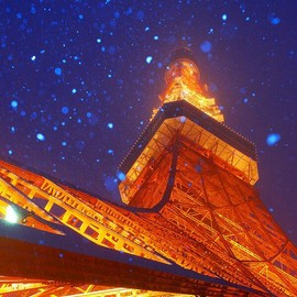 tokyo tower - snow