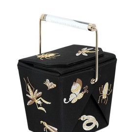 Charlotte Olympia - FW2014 TAKE ME AWAY EMBROIDERED SILK CLUTCH