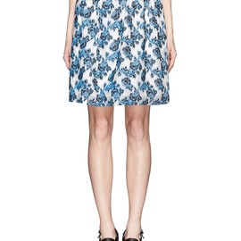 PRABAL GURUNG - Rose embroidery flare skirt