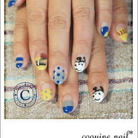 coquine nail - スヌーピーinロンドン!なネイル。