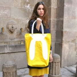 Peter Jensen - Rabbit Eyelet Canvas Tote Bag Yellow/White
