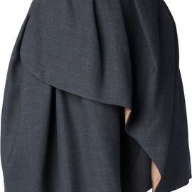 CARVEN - pleated wrap skirt