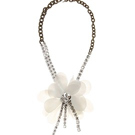 LANVIN - Embellished floral necklace