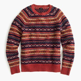 J.CREW - Lambswool Fair Isle sweater in heather rust