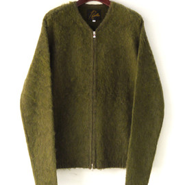 NEEDLES - Shaggy Alpaca Sweater-Zip Cardigan/Solid