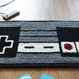 NES Nintendo Controller Rug 2 Soft and Dreamy Retro NES Nintendo Controller Rug from WTCrafts