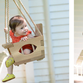 VintageSwings - Handmade Wood Toddler Swing