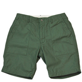 Engineered Garments - Olive Sateen Fatigue Shorts