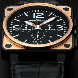 Bell & Ross - BELL&ROSS BR01-94 クロノグラフ ピンクゴールド カーボン(BR01-94 Chreonograph Pink Gold & Carbon) / Ref.BR01-94-S/R