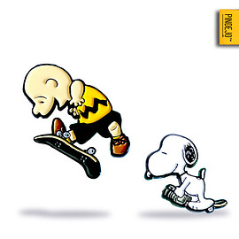 Charlie Brown One Foot by Elistrator