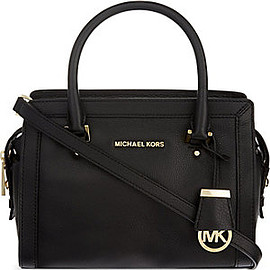MICHAEL KORS - MICHAEL MICHAEL KORS Collins small soft leather tote (Black