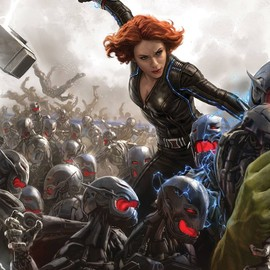 "Black Widow in Marvel's ""Avengers: Age of Ultron'' Concept art posters"