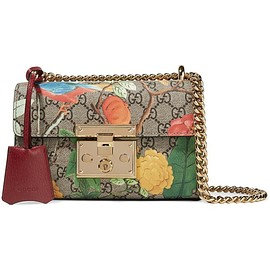 Gucci - Padlock small coated-canvas and leather shoulder bag