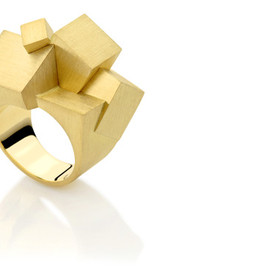 Curved Mix Puzzle Ring