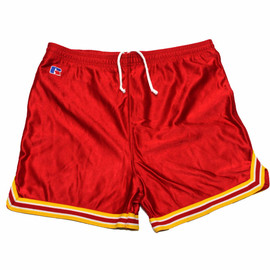 VINTAGE - Vintage 1980s Russell Athletic Red Gym Shorts Mens Size Small