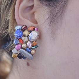CHIMASKI - Snack jewel One off earrings