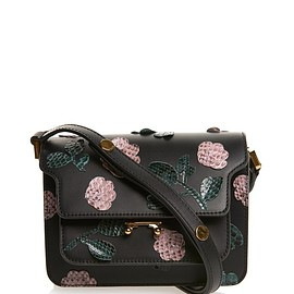 MARNI - Trunk mini leather and python cross-body bag