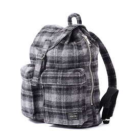 "HEAD PORTER - ""LESSON"" RUCKSACK (S) GREY"